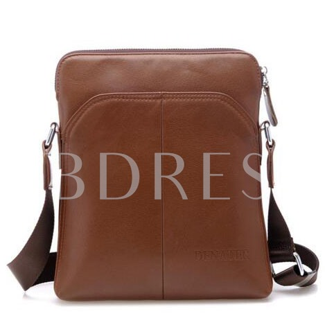 Casual Pure Color Men's Messenger Bag