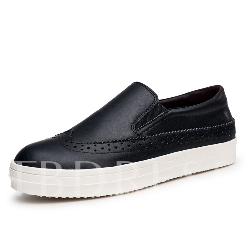 Slip-On Hollow Flat Heel Low-Cut Upper Men's Loafers