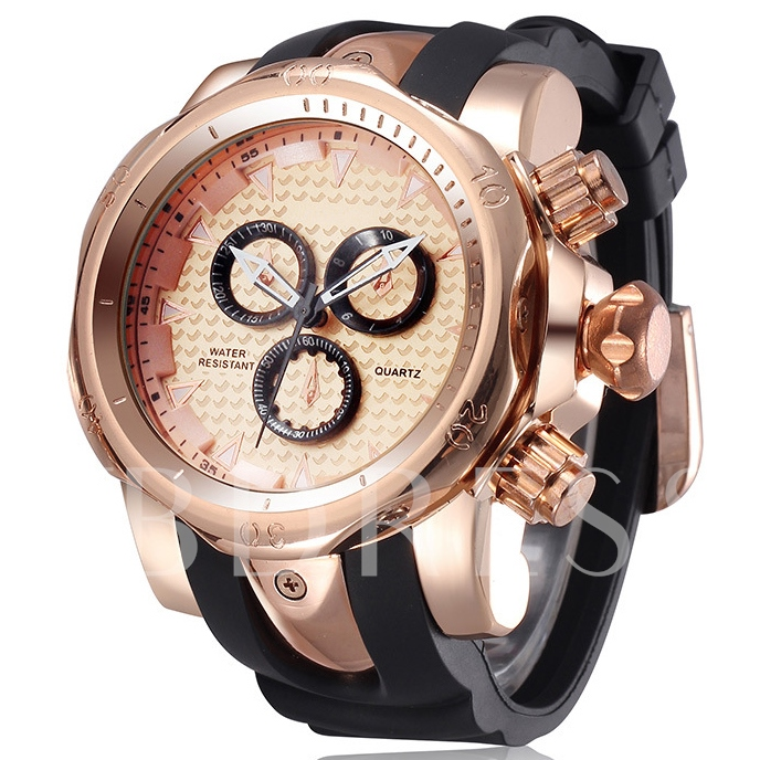 Noble Alloy Dial And Silicone Band Men's Watch