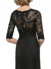 Half Sleeves Beading Appliques Mother of the Bride Dress