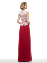 Two-Tone Color Hollow-Out Chiffon Mother of Bride / Groom Dress