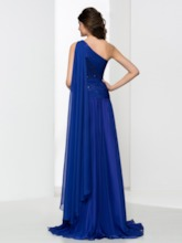 One-Shoulder Sequins Side-Split Prom Dress