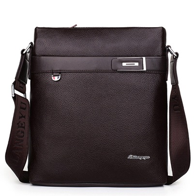 Rectangle Business Litchi Men's Messenger Bag