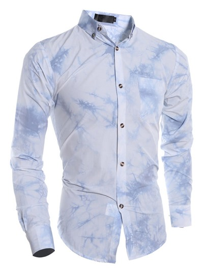 Men's Bandhu Shirt with Turn-Down Collar