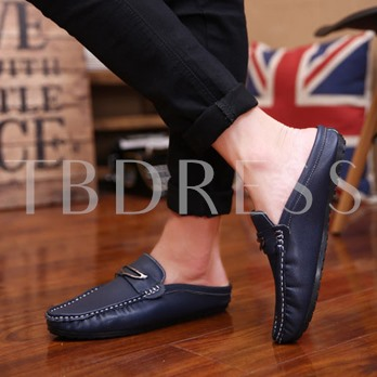 Sequins Round Toe Slip-On Low-Cut Upper Men's Loafers