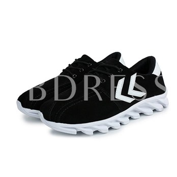 Round Toe Flat Heel Low-Cut Upper Cross StrapContrast Contrast Color Men's Sneakers