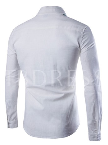 Men's Long Sleeve Shirt with Turn Down Collar
