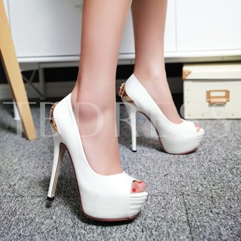 Platform Rhinestone Sequins Stiletto Heel Women's Pumps