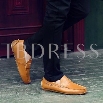 Round Toe Slip-On Low-Cut Upper Plain Men's Loafers