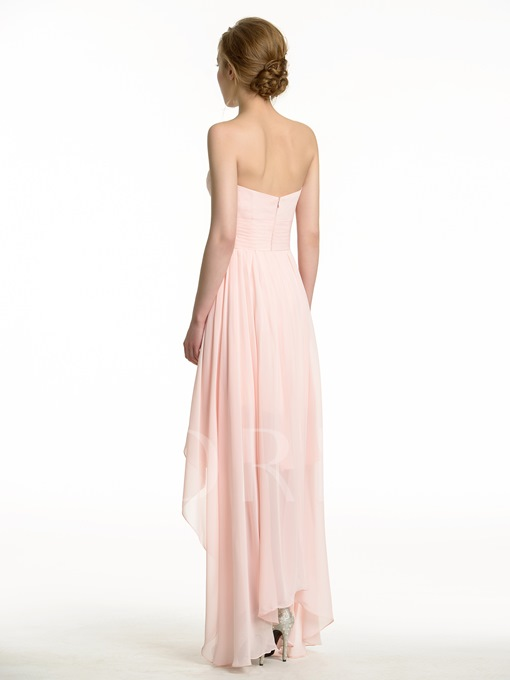 High-Low Sweetheart Chiffon Beach Bridesmaid Dress