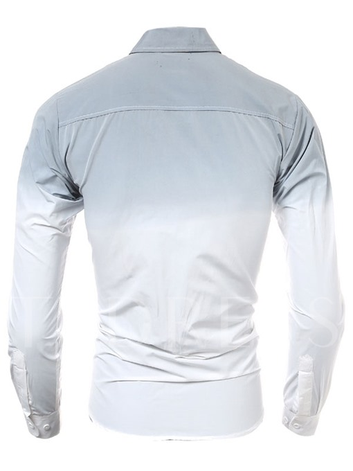 Men's Long Sleeve Shirt with Gradient