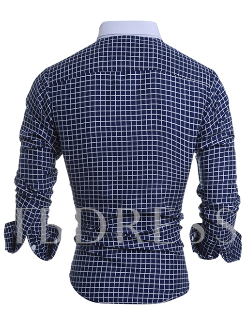 Men's Shirt with Mini Check