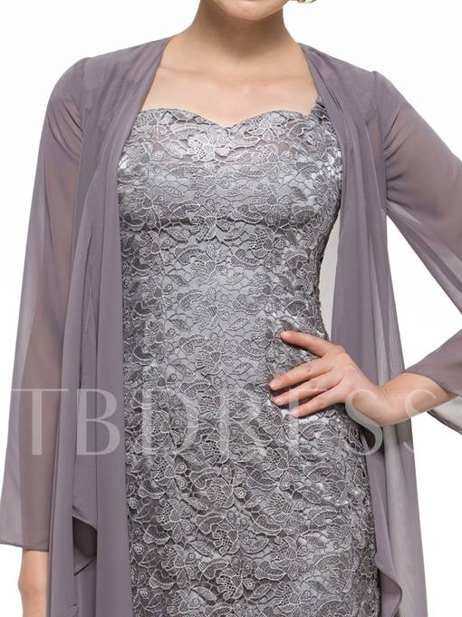 Lace Column Mother of the Bride Dress with Jacket