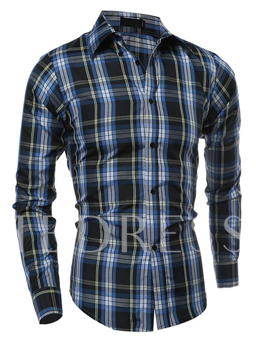 Men's Long Sleeve Shirt with Streak