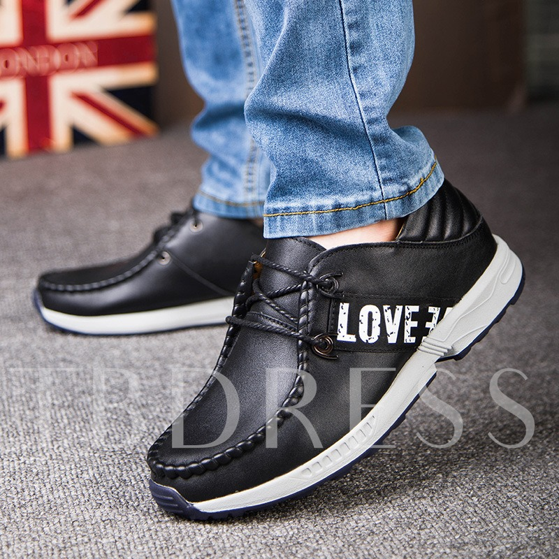 Round Toe Flat Heel Cross Strap Patchwork Plain Men's Loafers