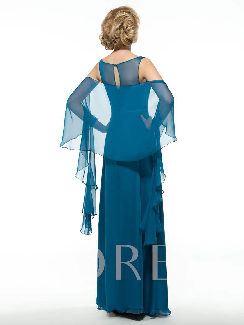 Ruffles Mother of the Groom Dress with Shawl