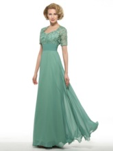 Lace Mother of the Bride Dress with Shot Sleeve Jacket