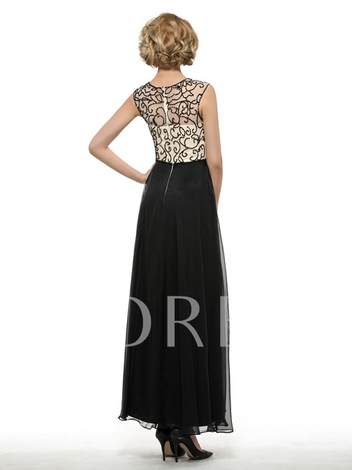 Beaded Straps Ankle-Length Mother of the Bride Dress