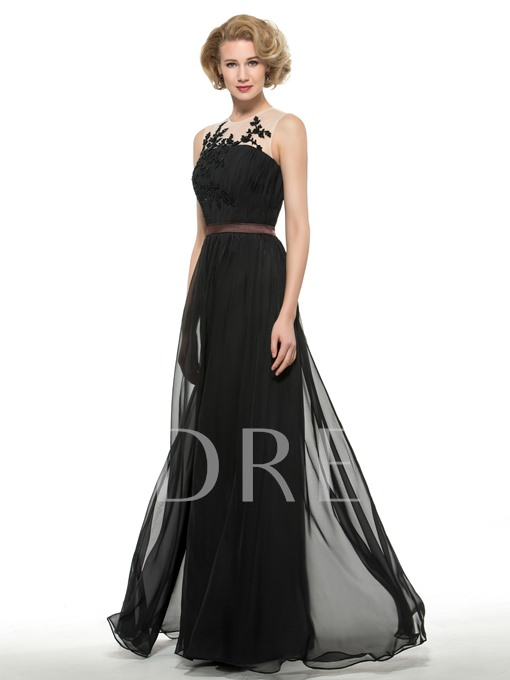 Beaded Sequins Chiffon A-Line Floor-Length Mother of the Groom Dress