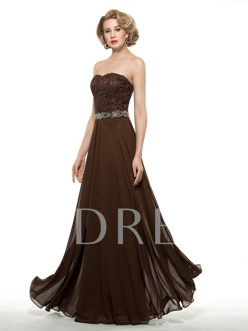 Sweetheart A-Line Chiffon Lace Long Mother of the Groom Dress with Jacket