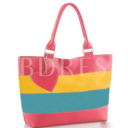 Fashion Colorful PU Women Tote Bag