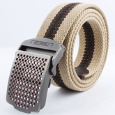 Noble Circular Hole Smooth Buckle Men's Belt