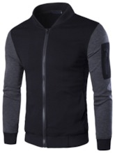 Men's Jacket with Contrast Color