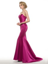 Matte Satin Pleats Mermaid Mother of the Bride Dress with Jacket