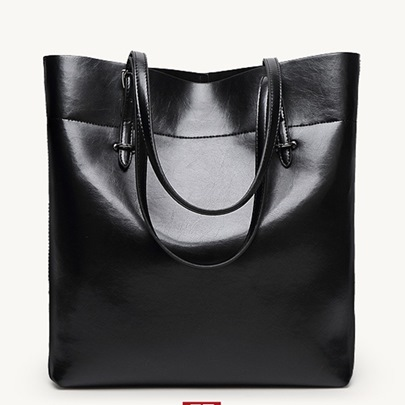 Bucket Shape Plain Shoulder Bag