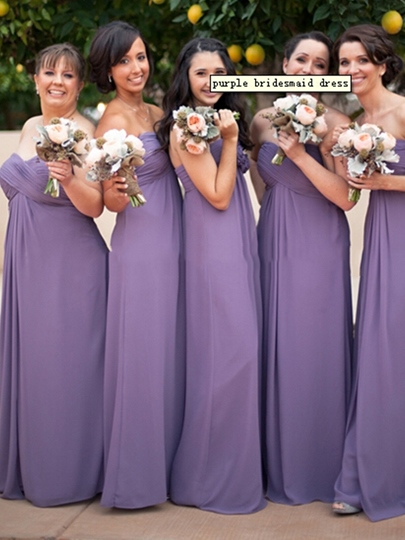 Sweetheart Floor-Length A-Line Chiffon Bridesmaid Dress