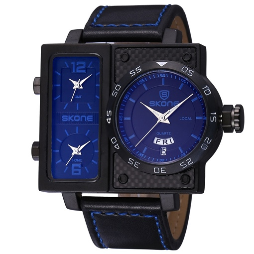 Non-Mainstream Real Three Display Men's Watch