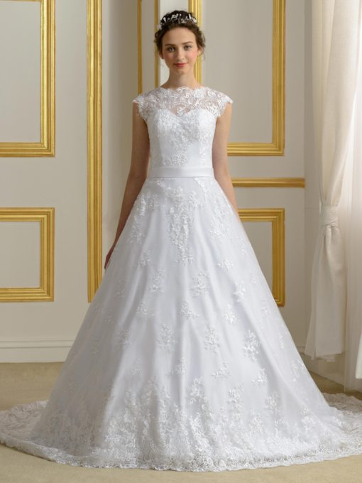 White Linen Wedding Dresses - Tbdress.com