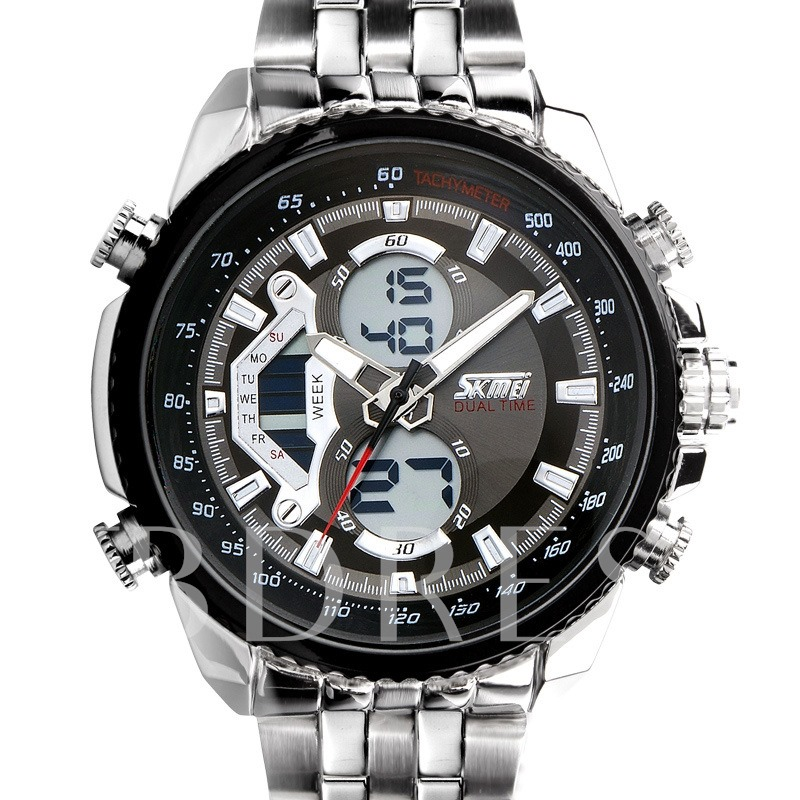 Quartz Double Small Dials With Pointers Men's Watch