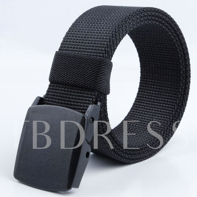 Sports Basic Smooth Buckle Men's Belt