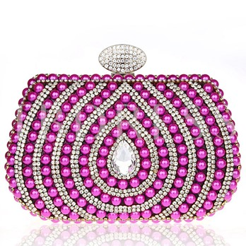 Beads Rhinestone Shell Design Women's Dinner Bag