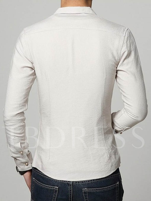 Men's V-Neck Shirt with Linen Blends