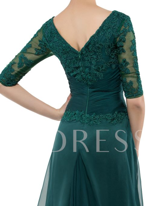 Appliques Mother of the Bride Dress with Half Sleeve