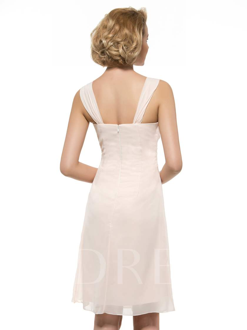 Straps Beaded Short Mother of Groom Dress with Jacket