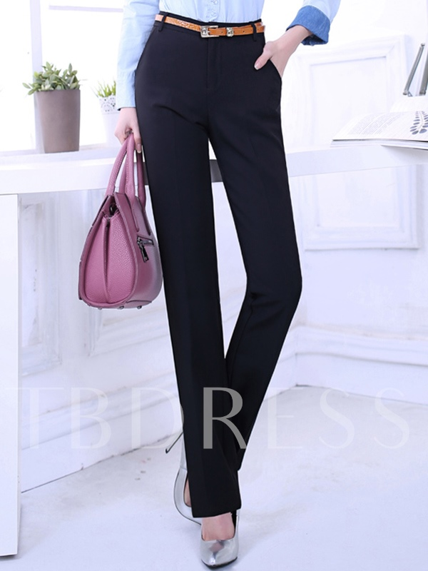 Professional Straight Thin Leisure Height High Waisted Women's Pants
