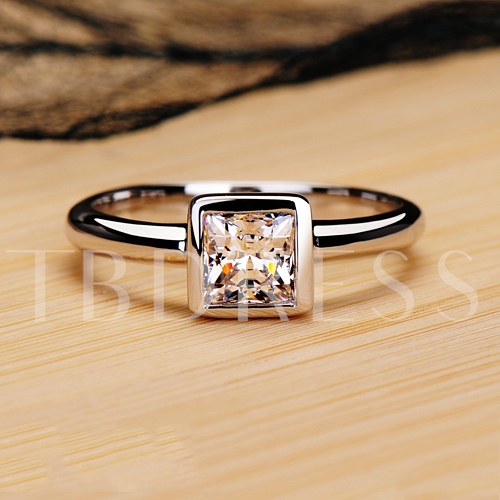 Mark 950 NSCD Square Diamond Shaped Ring