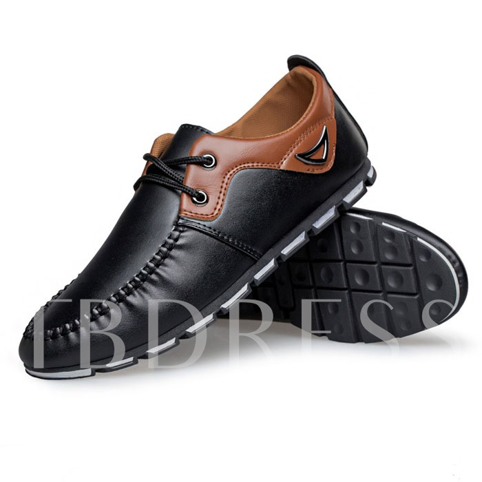 Buy Flat Heel Round Toe Cross Strap Men's Loafers Boat Shoes, Spring,Fall,Winter, 11648344 for $30.99 in TBDress store