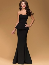Mermaid Sweetheart Tiered Floor-Length Evening Dress