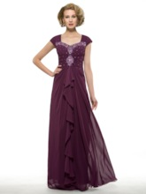 Ruched Beading Sheath Mother of the Bride Dress
