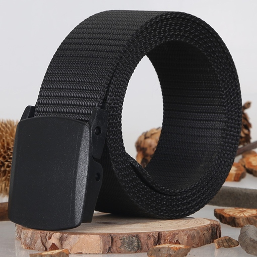 Cool Pure Color Canvas Men's Belt