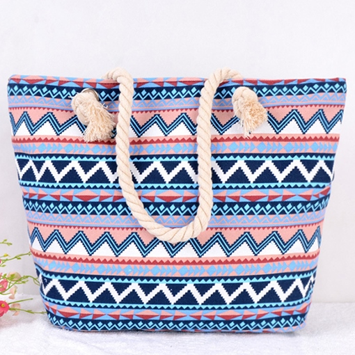 Canvas Fashion Print Square Shoulder Bags