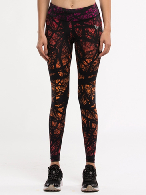 Jungle Printed Form-Fitting Women's Yoga Leggings