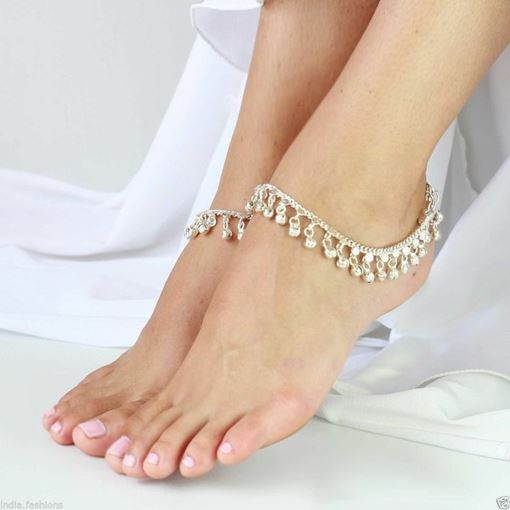 Alloy Mini Bell Women's Anklets (Price for a Pair)