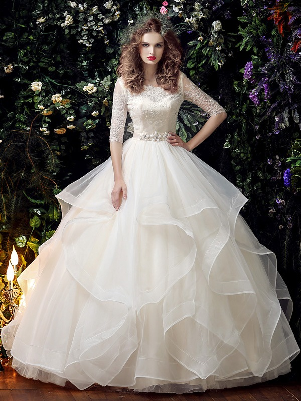 Wedding | Sleeve | Dress | Gown | Bead | Ball | Lace