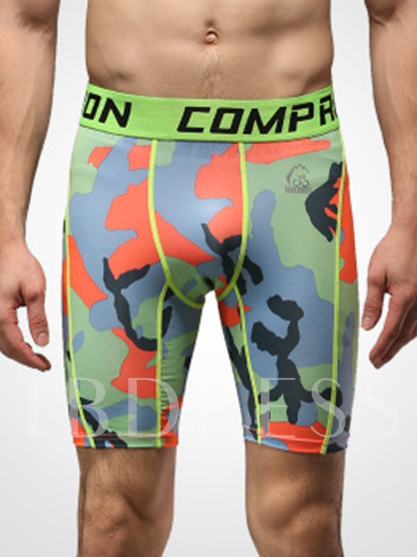 Square Printed Sweat-Absorption Men's Shorts