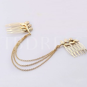 Beautiful Matched Leaf And Chain Women's Hair Accessory
